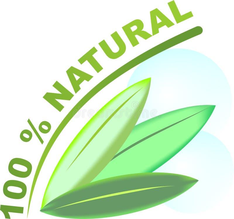 Logotipo - el 100% natural stock de ilustración
