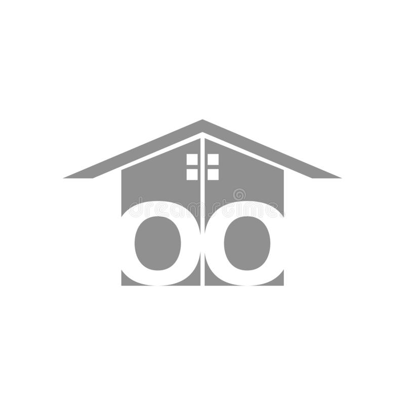 Logotipo elegante casero creativo que detalla con el fondo limpio libre illustration