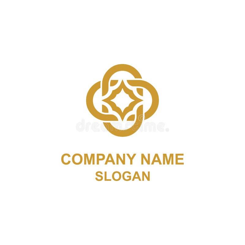 Logotipo elegante da inicial do ornamento da letra de C ilustração royalty free