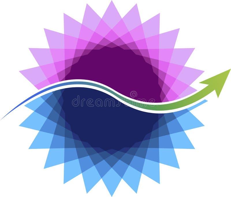 Logotipo elegante de la flor stock de ilustración