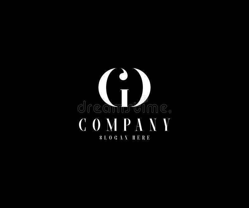 Logotipo elegante del monograma mínimo GD stock de ilustración