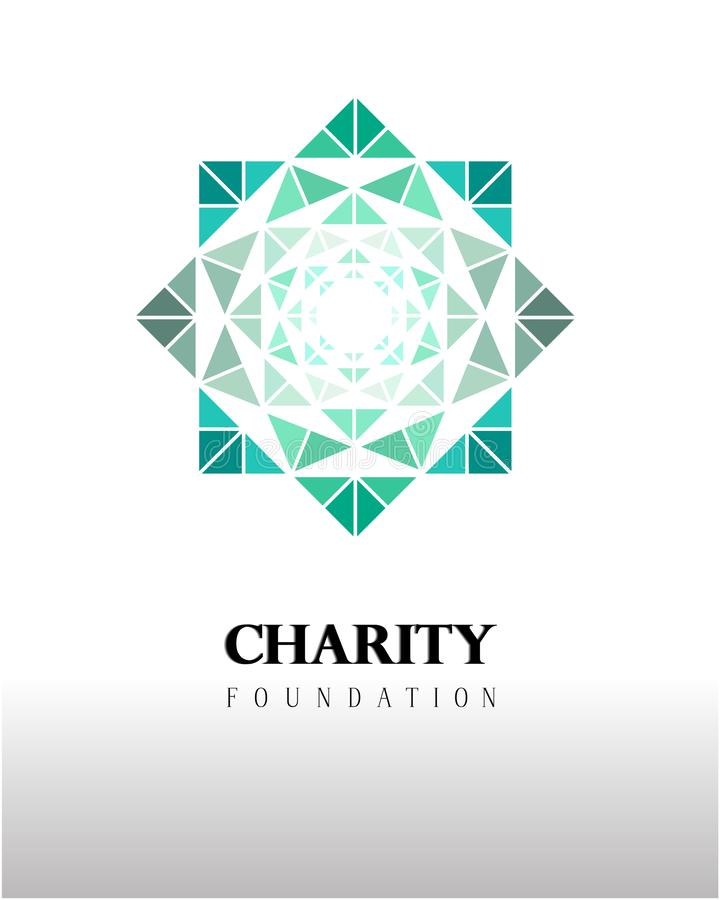 Logotipo elegante e para atrair a atenção à instituição ilustração stock