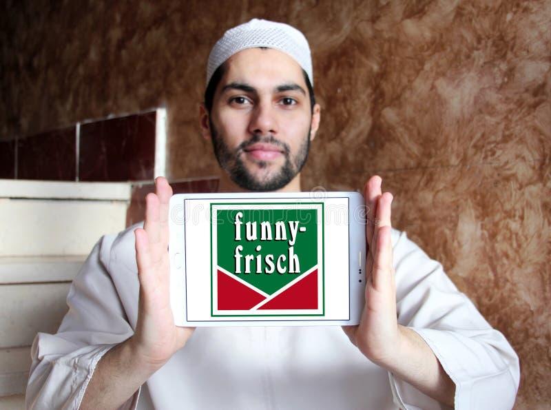 Logotipo engraçado-frisch do tipo das batatas fritas de batata fotografia de stock royalty free