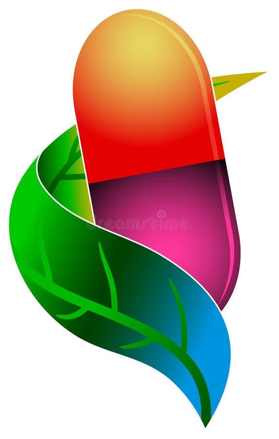 Logotipo erval da medicina ilustração royalty free
