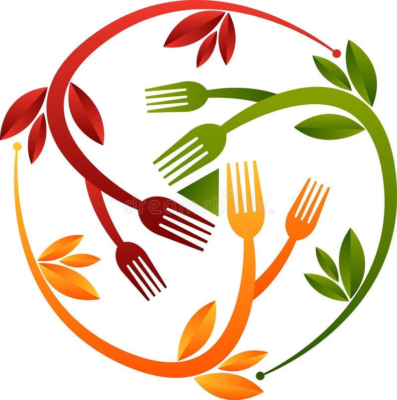 Logotipo erval do alimento ilustração royalty free