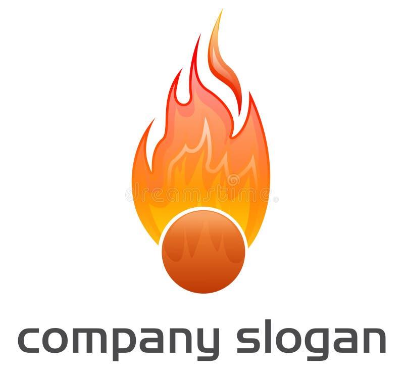Logotipo - esfera de incêndio ilustração royalty free