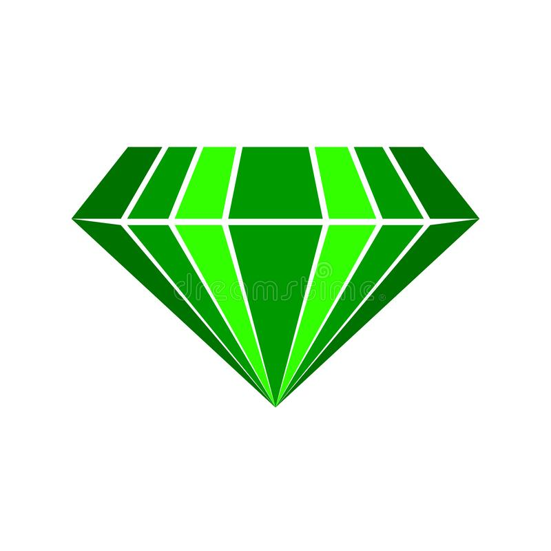 Logotipo esmeralda del vector stock de ilustración