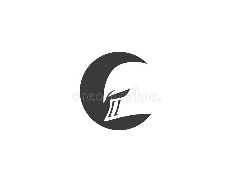 Logotipo espartano del casco ilustración del vector