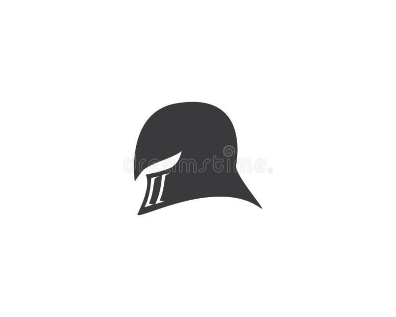 Logotipo espartano do capacete ilustração royalty free