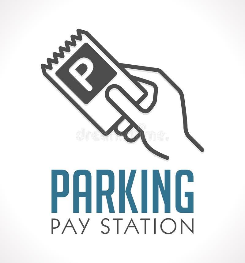 Logotipo - estación de la paga del estacionamiento ilustración del vector