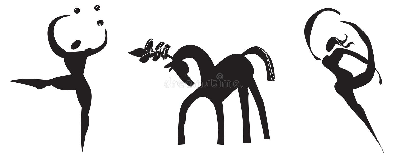 Logotipo estilizado do circo fotografia de stock