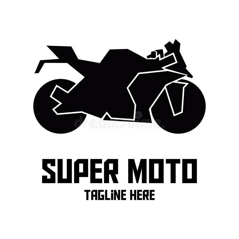 Logotipo estupendo negro del moto ilustración del vector