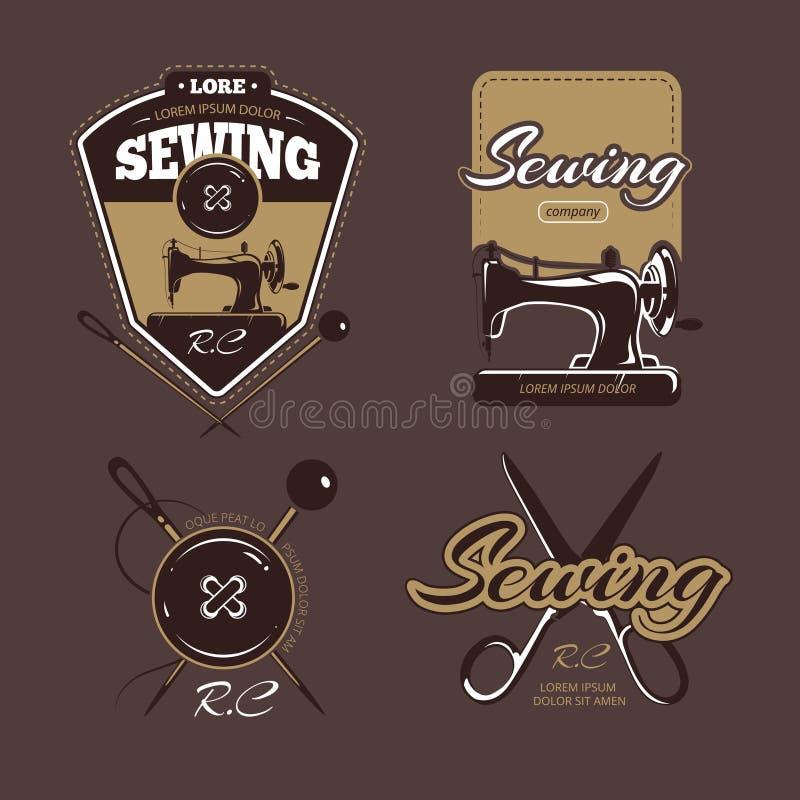 Logotipo, etiquetas e insignias del vector del color de la adaptación Colección de la vendimia stock de ilustración