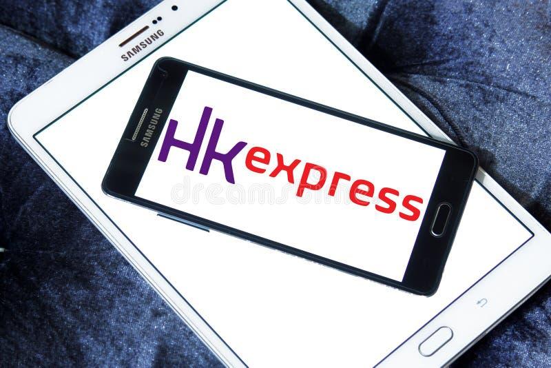 Logotipo expreso de las vías aéreas de HK foto de archivo libre de regalías