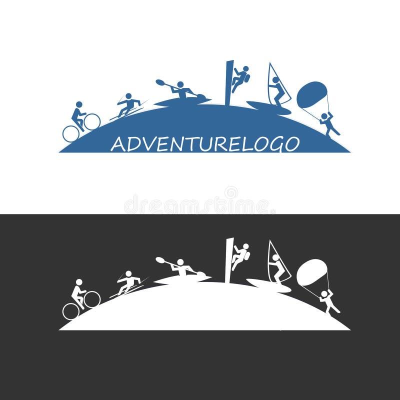 Logotipo exterior da aventura ilustração stock