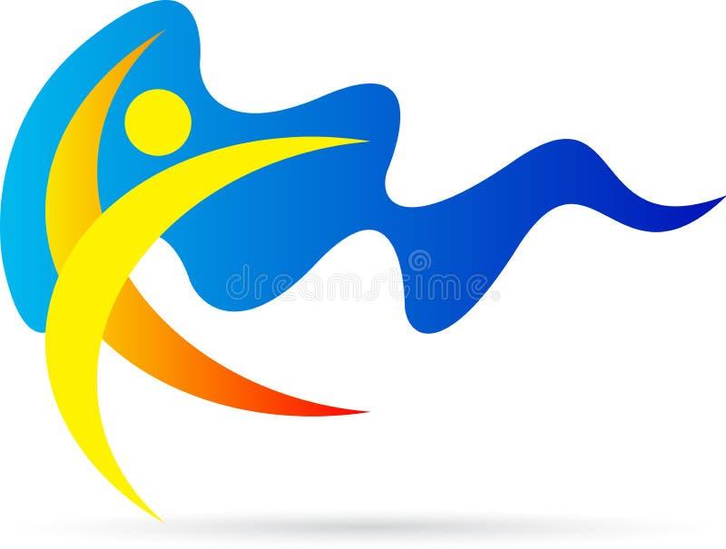 Logotipo feliz do homem ilustração royalty free