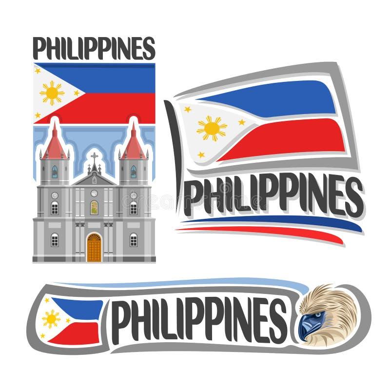 Logotipo Filipinas do vetor ilustração stock