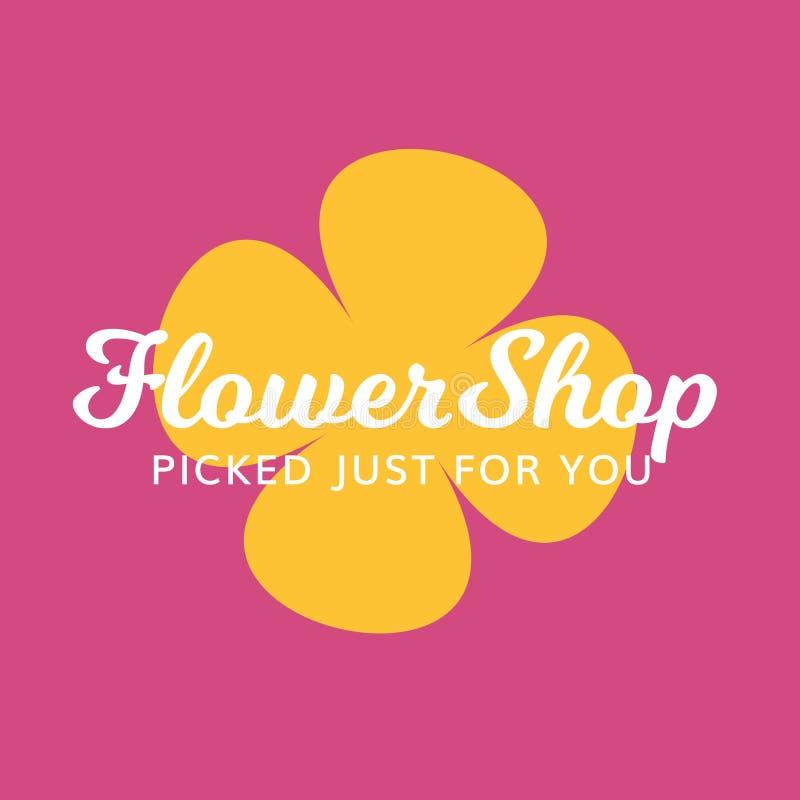 Logotipo floral do salão de beleza dos termas do presente do florista imagens de stock royalty free