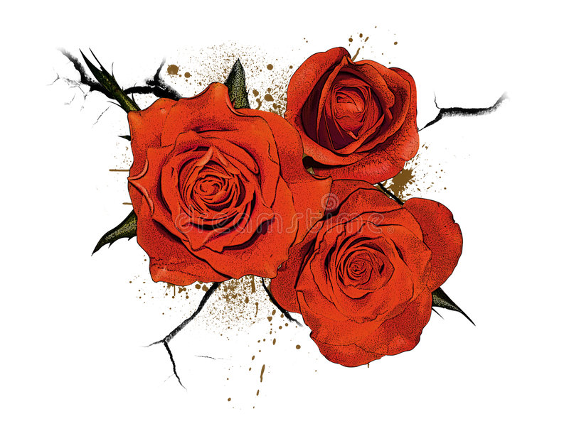Logotipo floral ou ikon 5 ilustração royalty free