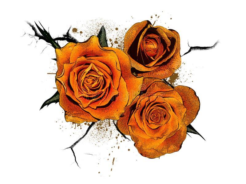 Logotipo floral ou ikon 6 ilustração do vetor