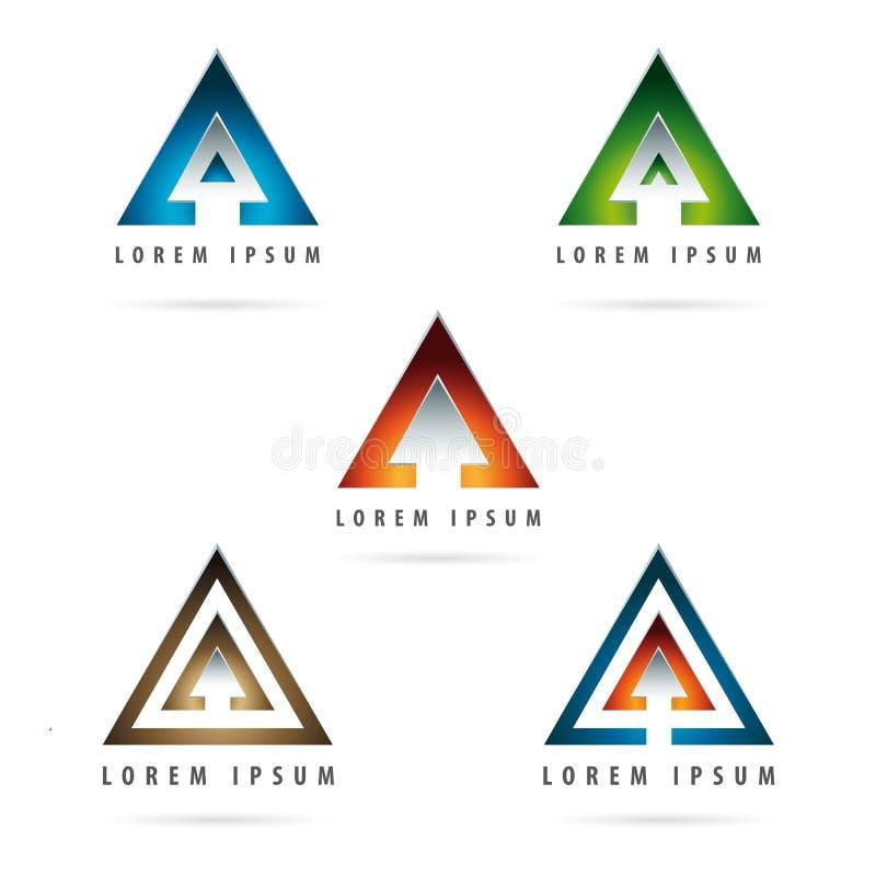 Logotipo formado flecha stock de ilustración