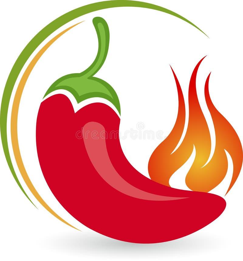 Logotipo frío caliente stock de ilustración