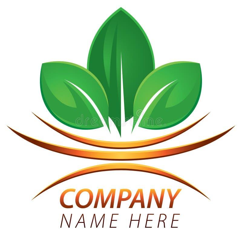 Logotipo fresco de la hoja libre illustration