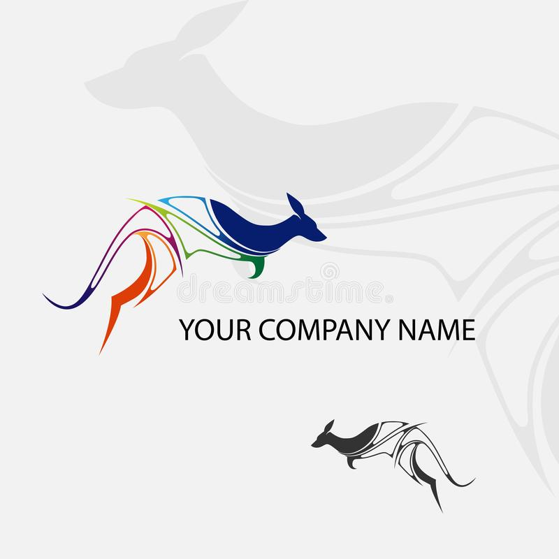 Logotipo fresco del canguro nuevo libre illustration