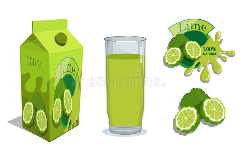Logotipo fresco del jugo Bebida sana libre illustration