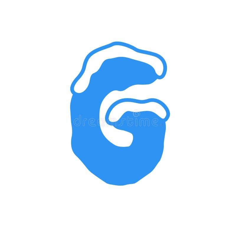 Logotipo G da letra da neve do vetor imagem de stock royalty free