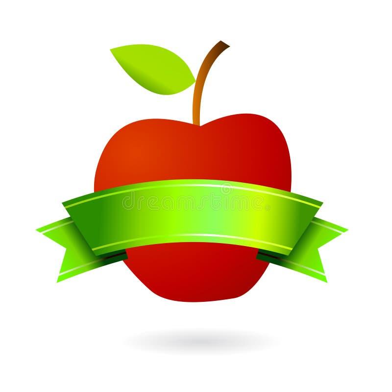 Logotipo genuíno da etiqueta da fruta ilustração royalty free