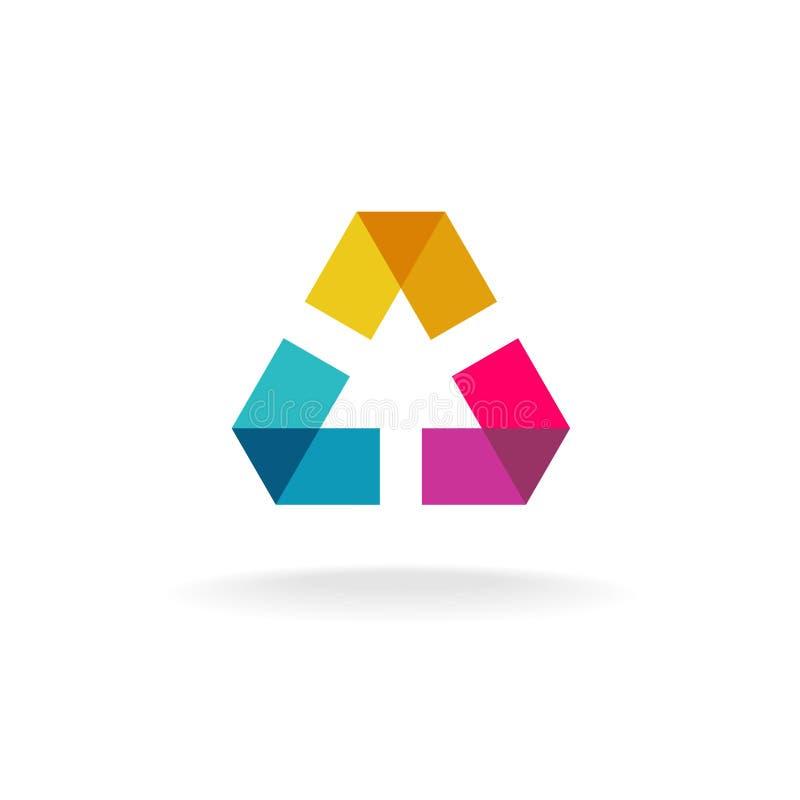 Logotipo geométrico abstrato ilustração royalty free