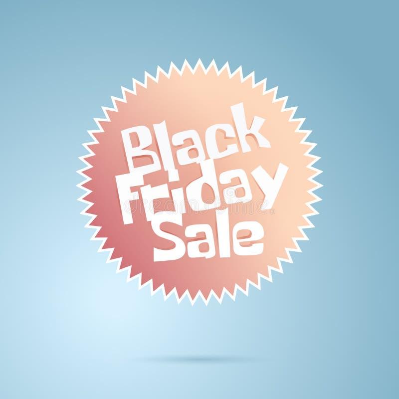 Logotipo geométrico de la historieta del extracto de la venta de Black Friday stock de ilustración