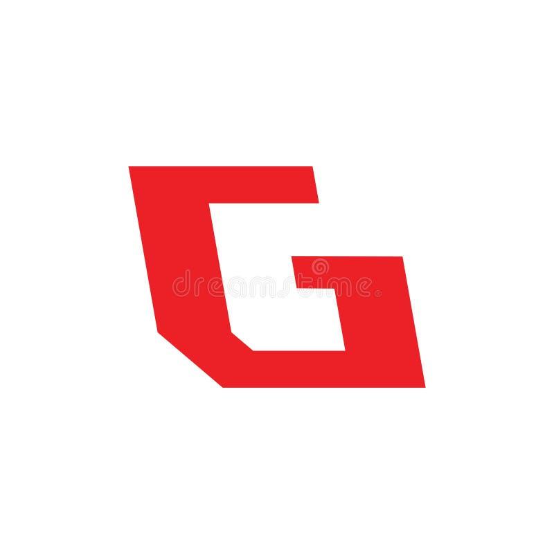 Logotipo geométrico simples de g da letra abstrata ilustração do vetor