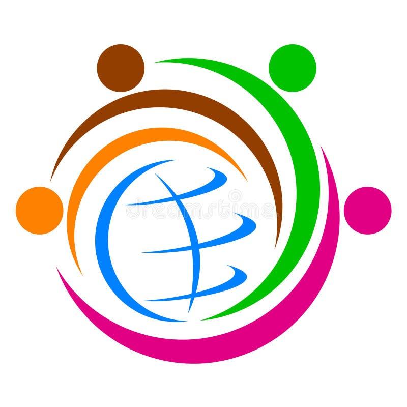 Logotipo global da diversidade ilustração stock