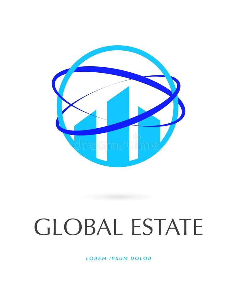 Logotipo global da propriedade fotografia de stock