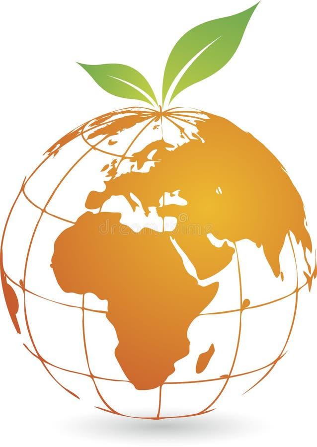 Logotipo global de la fruta ilustración del vector