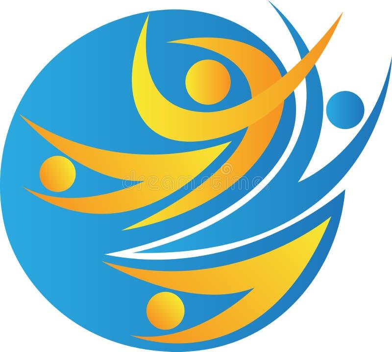 Logotipo global de la gente stock de ilustración