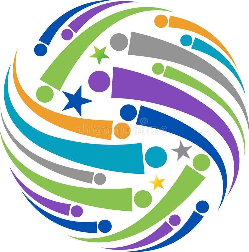 Logotipo global dos povos ilustração do vetor