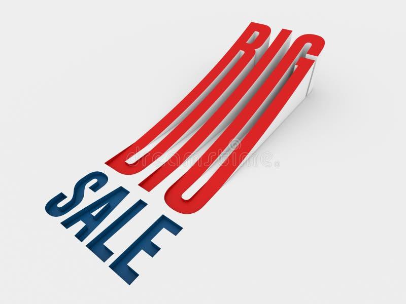 Logotipo grande da venda imagem de stock royalty free