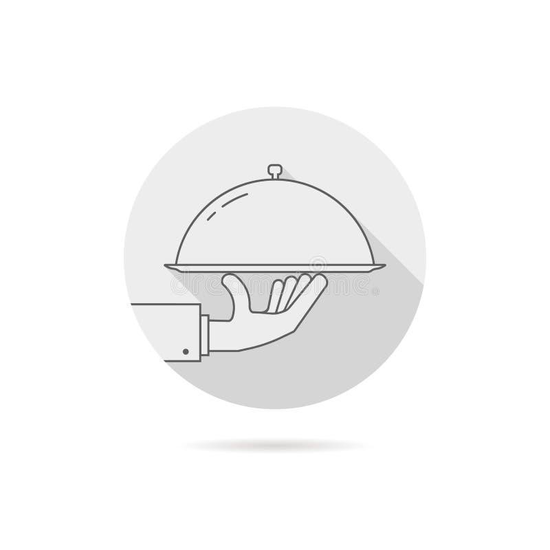 Logotipo gris del servicio del abastecimiento con la sombra ilustración del vector