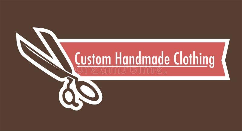 Logotipo hecho a mano de encargo de la ropa de adaptar el taller de la tienda stock de ilustración