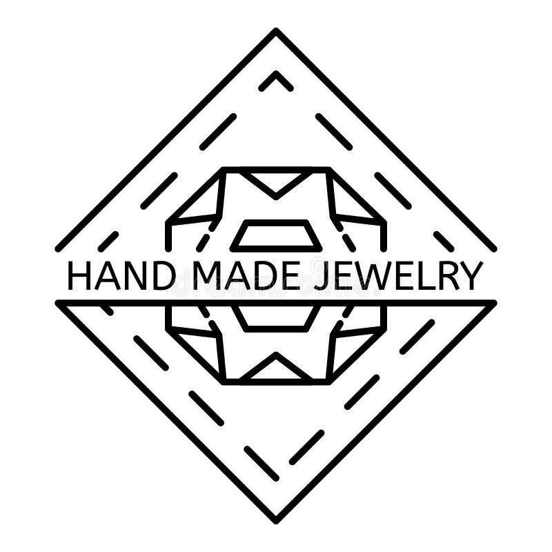 Logotipo hecho a mano de la joyería, estilo del esquema libre illustration