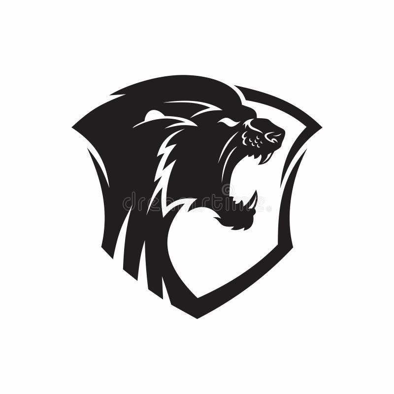 Logotipo heráldico del león libre illustration