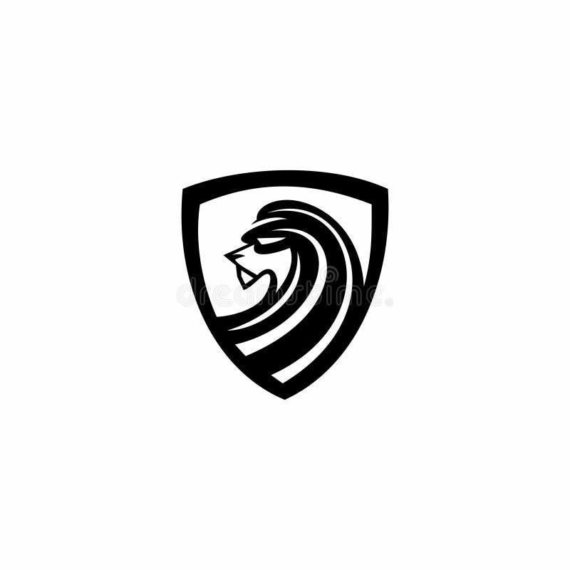 Logotipo heráldico del tigre stock de ilustración