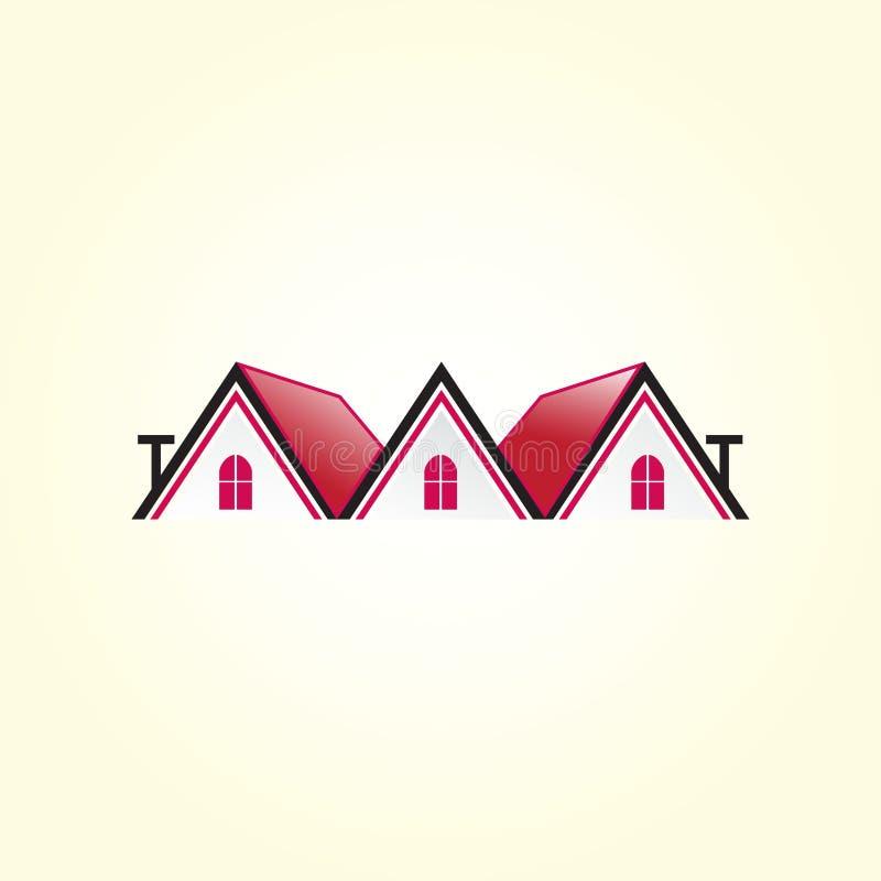 Logotipo hermoso de la casa Edificio, logotipo de las propiedades inmobiliarias para su compañía libre illustration