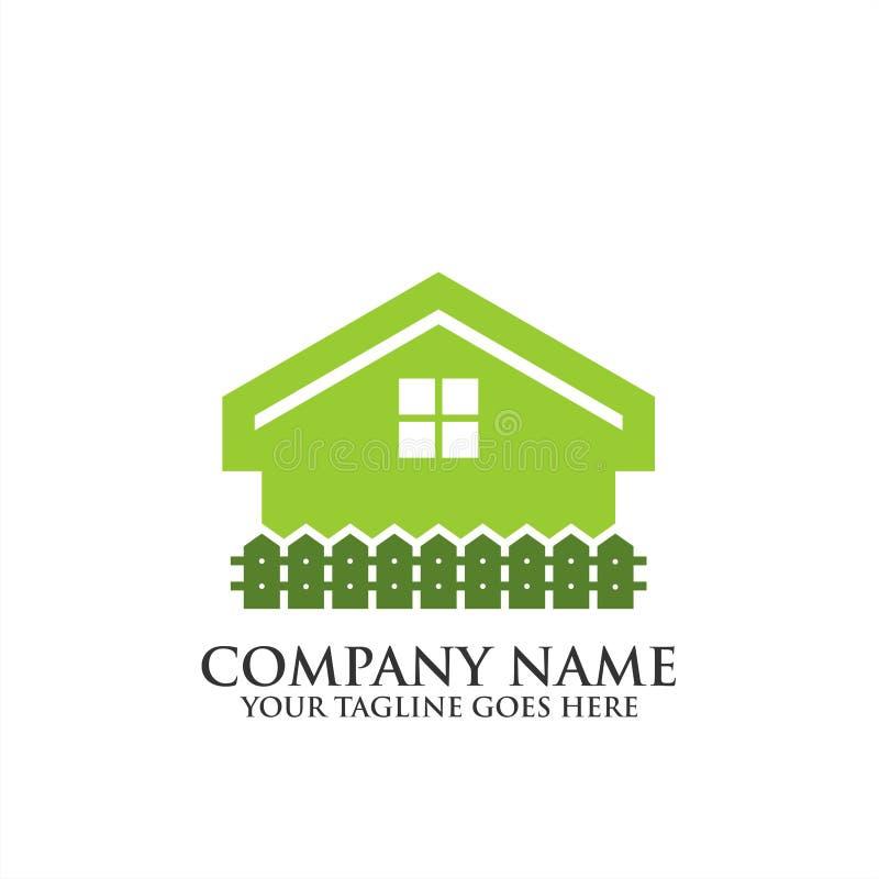 Logotipo home criativo de Real Estate, ícone do vetor do molde do logotipo da regência, logotipo dos bens imobiliários imagem de stock royalty free