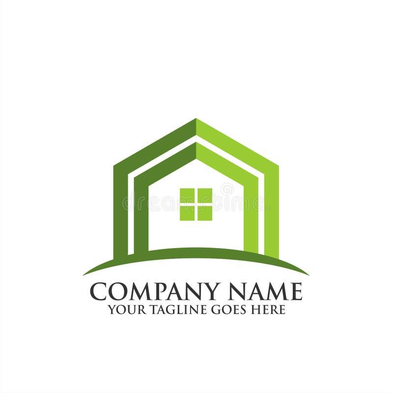 Logotipo home criativo de Real Estate, ícone do vetor do molde do logotipo da regência, logotipo dos bens imobiliários fotos de stock royalty free