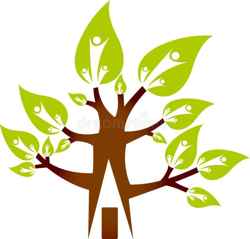 Logotipo Home da árvore ilustração royalty free