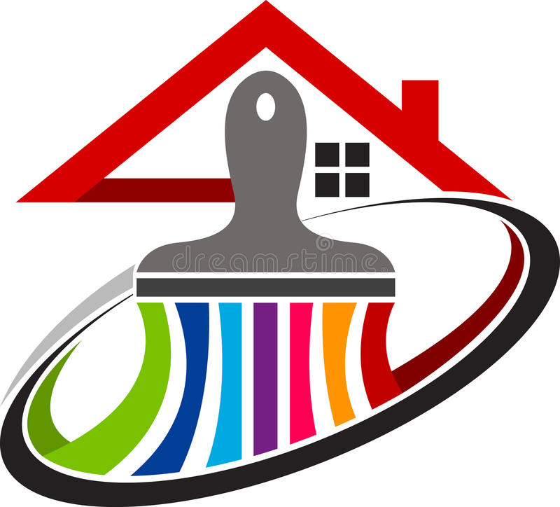 logotipo home da pintura ilustração do vetor